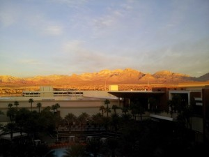 Red Rock Canyon from my hotel room, bathing in the morning sunlight.