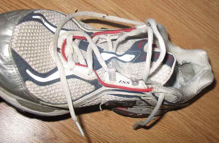My Half Marathon Running Shoe - nice Achilles hole